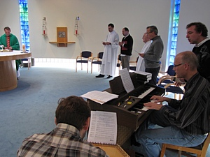 Enjoying the liturgical music