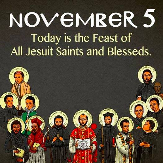 November 5: Feast of all Jesuit Saints and Blessed